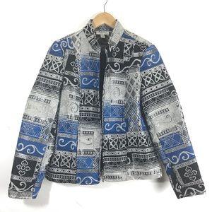 3/$25 Dressbarn Brocade Tapestry Jacket Small